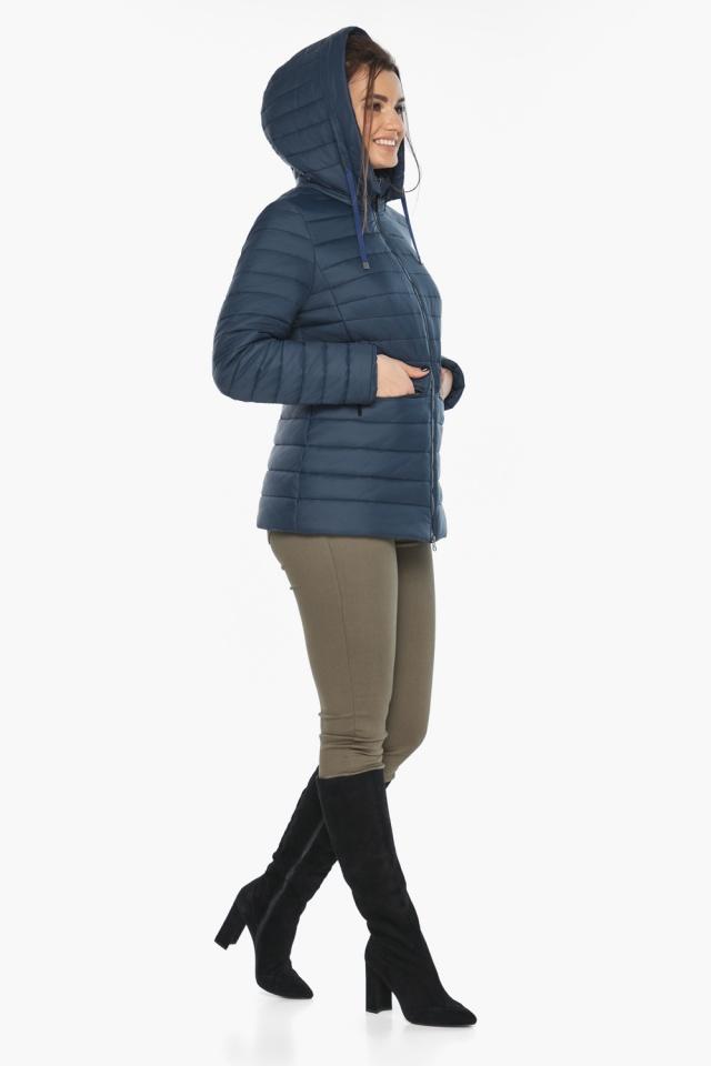 """Синяя стильная куртка осенне-весенняя женская модель 63045 Braggart """"Angel's Fluff"""" фото 2"""