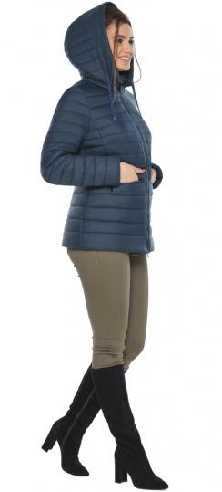 """Синяя стильная куртка осенне-весенняя женская модель 63045 Braggart """"Angel's Fluff"""" фото 1"""
