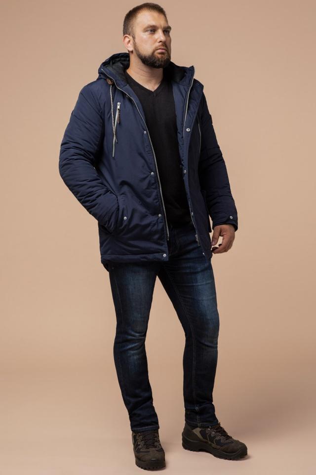 """Парка синяя мужская зимняя брендовая модель 43015 Braggart """"Arctic"""" фото 3"""