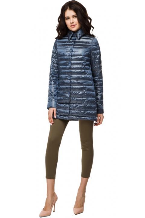 """Женская куртка оригинальная осенне-весенняя цвет темная лазурь модель 41323 Braggart """"Angel's Fluff"""" фото 1"""