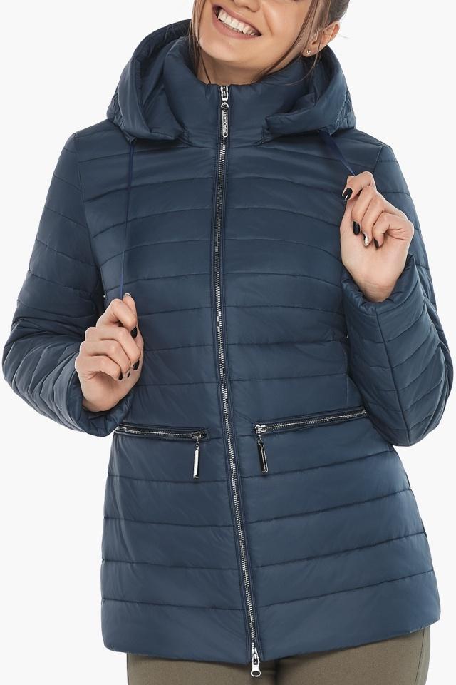 """Синяя стильная куртка осенне-весенняя женская модель 63045 Braggart """"Angel's Fluff"""" фото 8"""