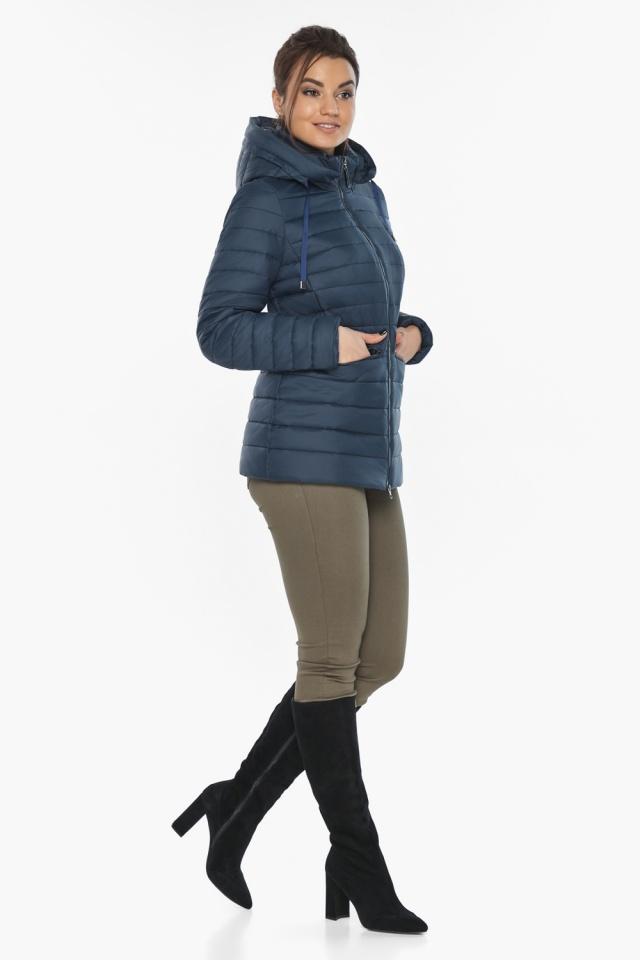 """Синяя стильная куртка осенне-весенняя женская модель 63045 Braggart """"Angel's Fluff"""" фото 6"""