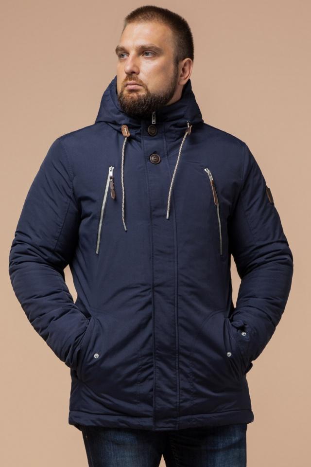 """Парка синяя мужская зимняя брендовая модель 43015 Braggart """"Arctic"""" фото 4"""