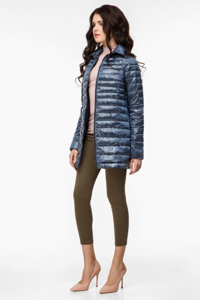 """Женская куртка оригинальная осенне-весенняя цвет темная лазурь модель 41323 Braggart """"Angel's Fluff"""" фото 4"""