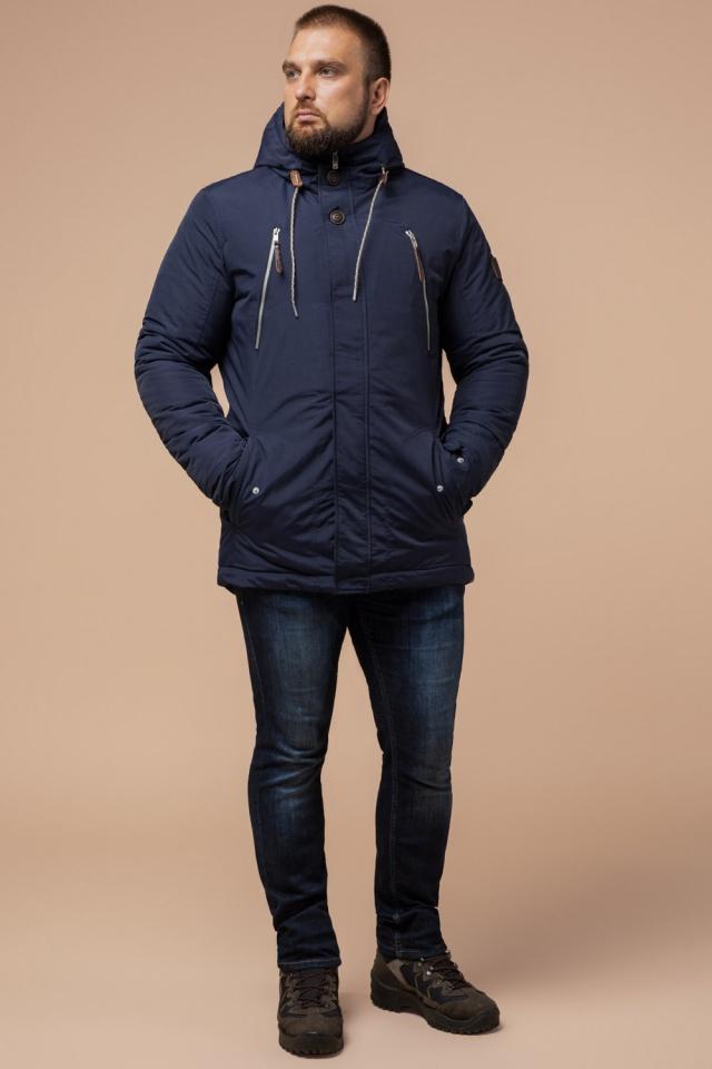 """Парка синяя мужская зимняя брендовая модель 43015 Braggart """"Arctic"""" фото 2"""