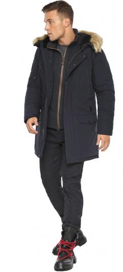 """Парка – воздуховик удобный зимний мужской цвет тёмно-синий модель 45062 Braggart """"Angel's Fluff Man"""" фото 1"""