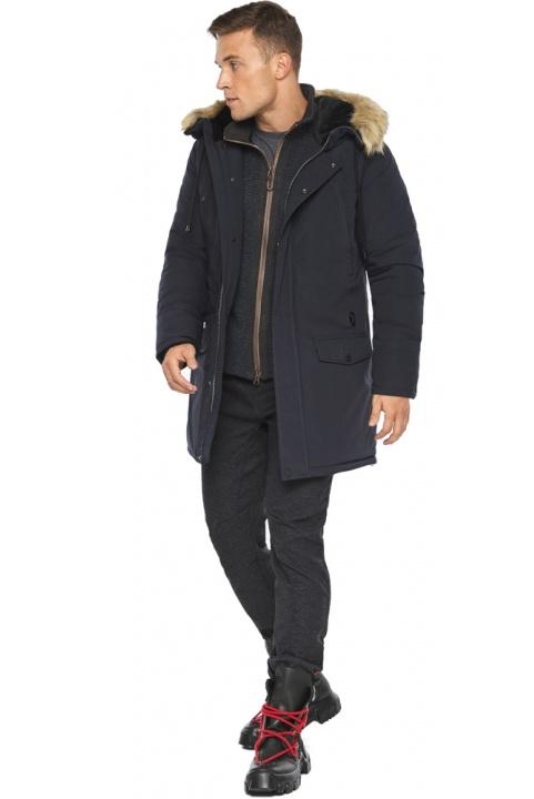 """Парка – воздуховик зручний зимовий чоловічий колір темно-синій модель 45062 Braggart """"Angel's Fluff Man"""" фото 1"""