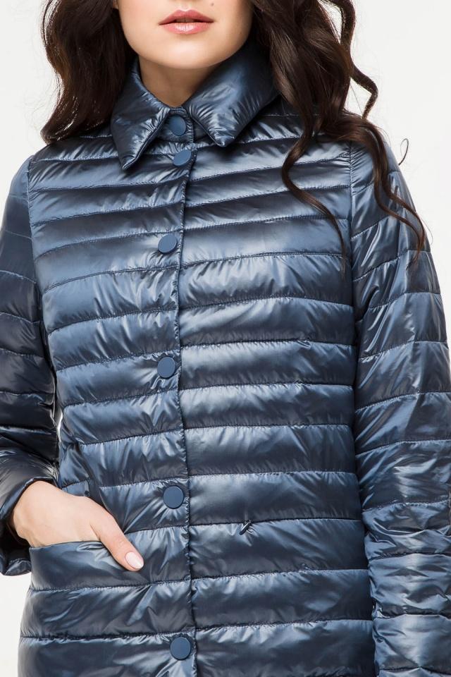 """Женская куртка оригинальная осенне-весенняя цвет темная лазурь модель 41323 Braggart """"Angel's Fluff"""" фото 6"""