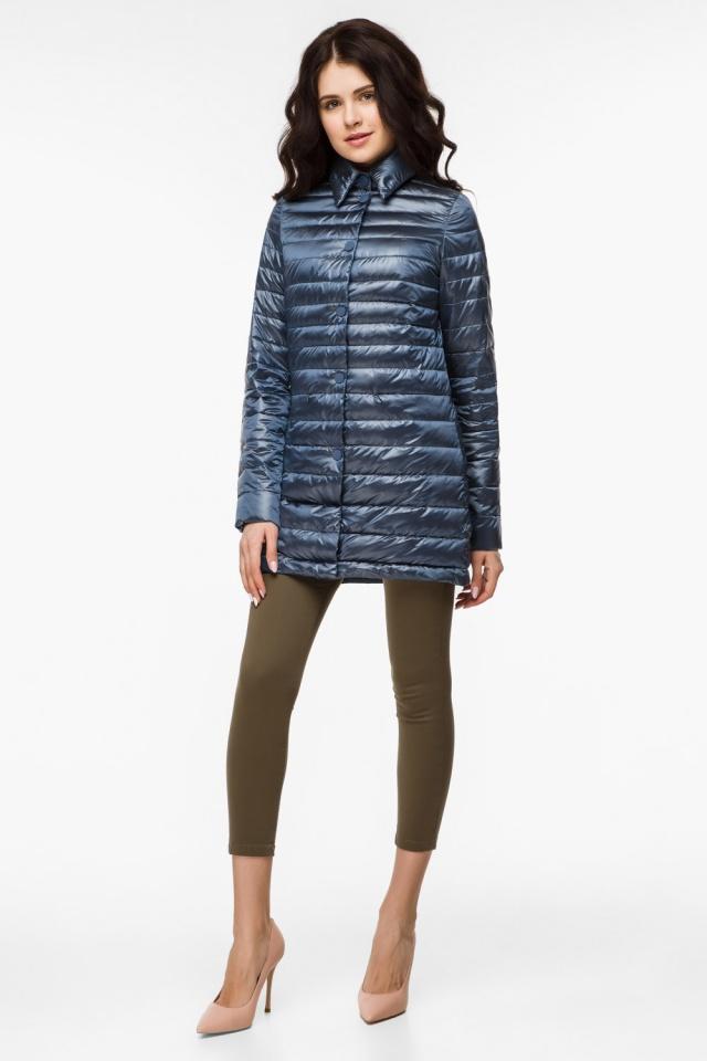 """Женская куртка оригинальная осенне-весенняя цвет темная лазурь модель 41323 Braggart """"Angel's Fluff"""" фото 2"""