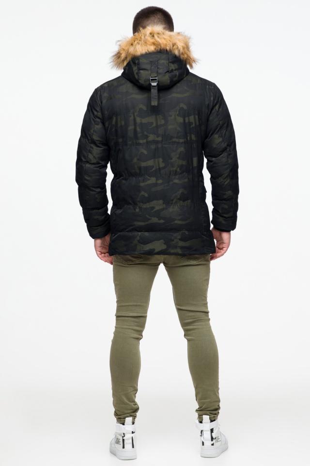 """Зимняя мужская куртка с ветрозащитным клапаном темно-зеленая модель 25450 Braggart """"Youth"""" фото 5"""