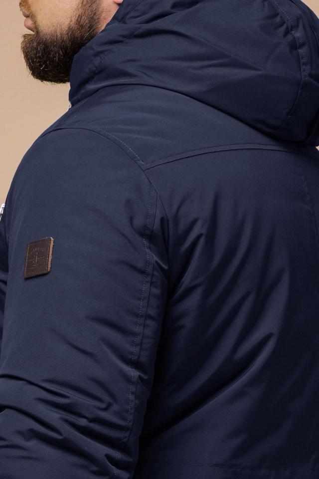 """Парка синяя мужская зимняя брендовая модель 43015 Braggart """"Arctic"""" фото 8"""