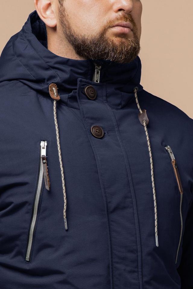 """Парка синяя мужская зимняя брендовая модель 43015 Braggart """"Arctic"""" фото 6"""