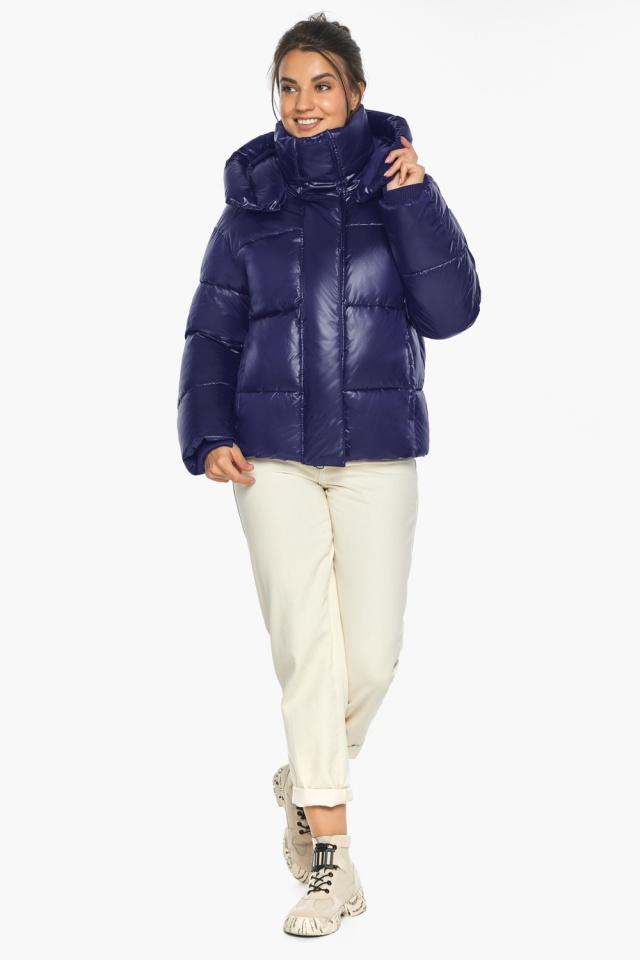 """Куртка с капюшоном женская синяя модель 44210 Braggart """"Angel's Fluff"""" фото 2"""
