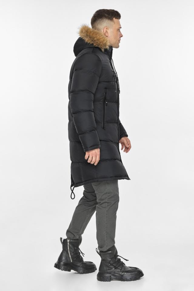 """Мужская куртка комфортной длины чёрная зимняя модель 49318 Braggart """"Dress Code"""" фото 7"""