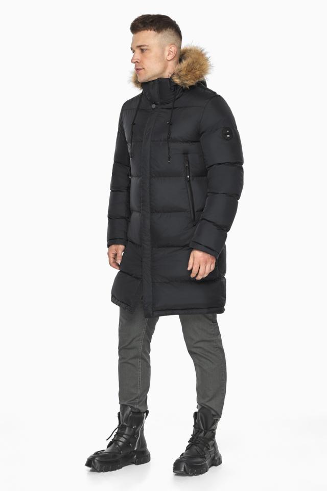 """Мужская куртка комфортной длины чёрная зимняя модель 49318 Braggart """"Dress Code"""" фото 4"""