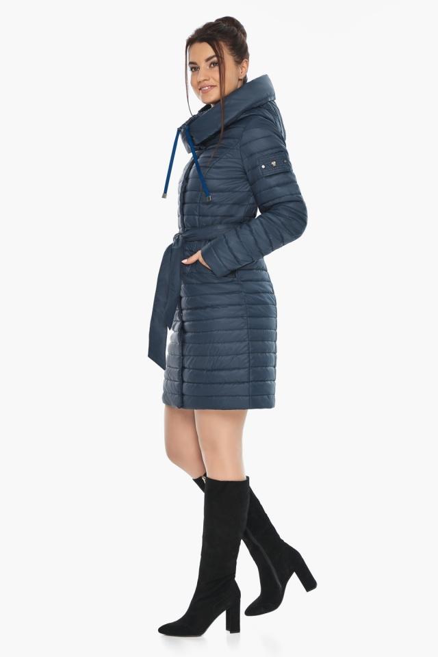 """Практичная куртка женская синяя модель 66870 Braggart """"Angel's Fluff"""" фото 7"""