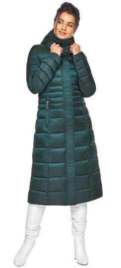 """Изумрудная куртка женская с трикотажными манжетами модель 43575 Braggart """"Angel's Fluff"""" фото 1"""