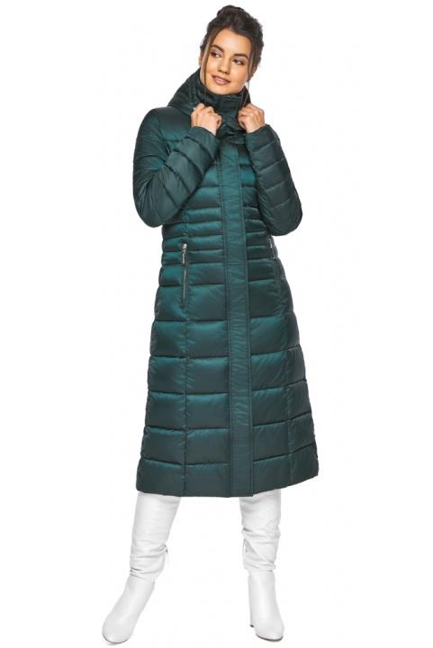 """Смарагдова куртка жіноча з трикотажними манжетами модель 43575 Braggart """"Angel's Fluff"""" фото 1"""
