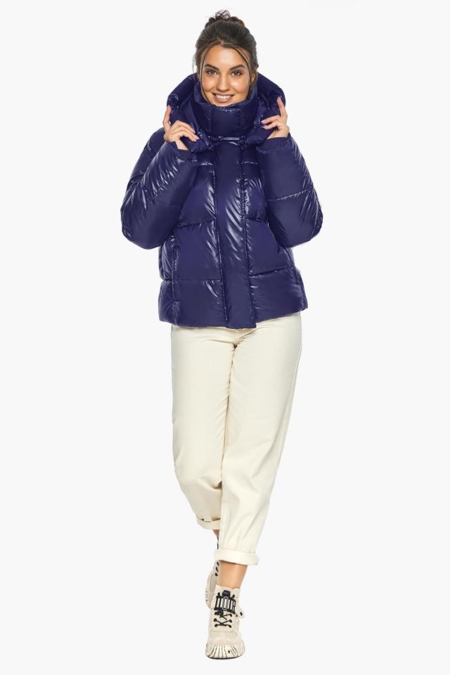 """Куртка с капюшоном женская синяя модель 44210 Braggart """"Angel's Fluff"""" фото 3"""