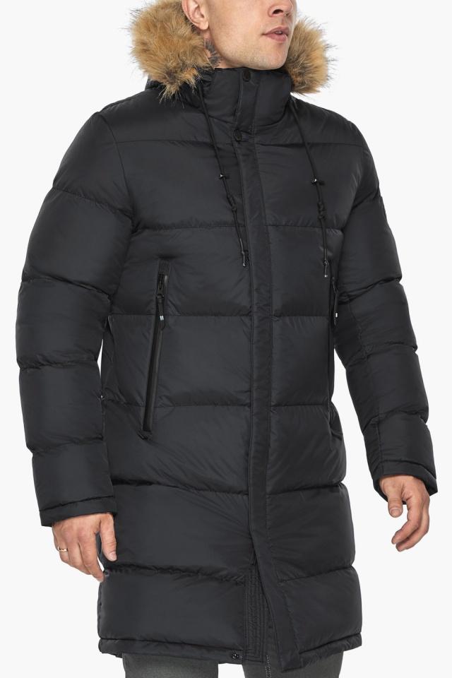 """Мужская куртка комфортной длины чёрная зимняя модель 49318 Braggart """"Dress Code"""" фото 9"""