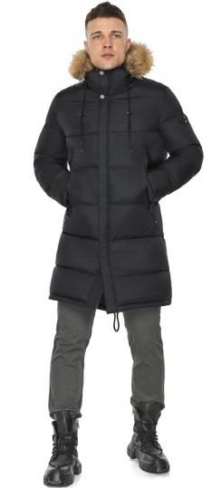 """Мужская куртка комфортной длины чёрная зимняя модель 49318 Braggart """"Dress Code"""" фото 1"""
