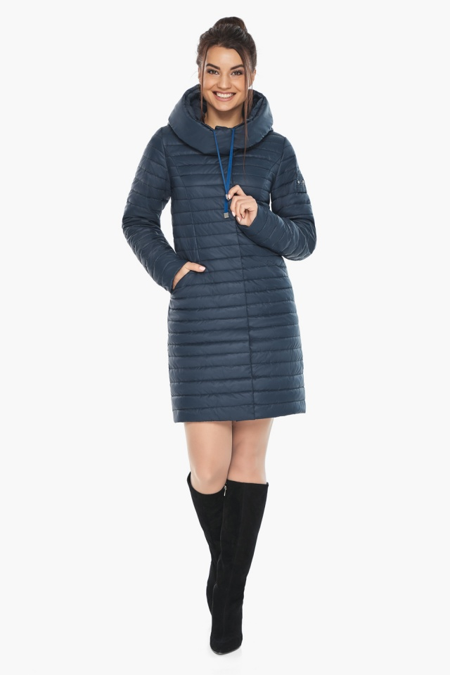 """Практичная куртка женская синяя модель 66870 Braggart """"Angel's Fluff"""" фото 4"""