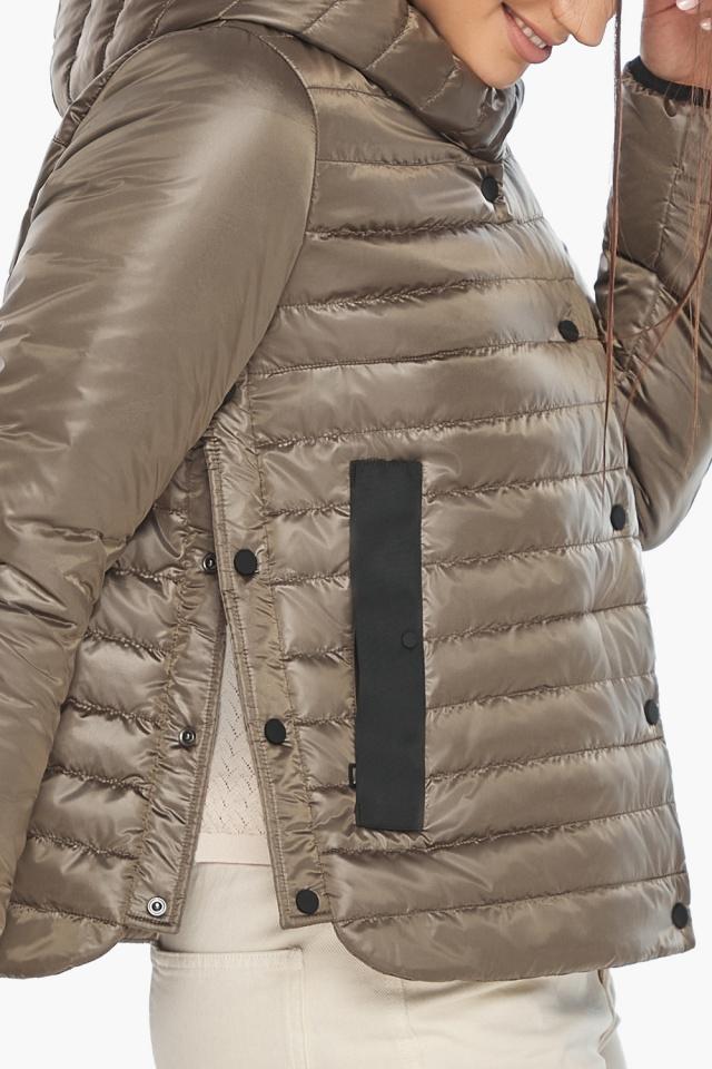 """Капучиновая женская куртка с карманами осенне-весенняя модель 64150 Braggart """"Angel's Fluff"""" фото 8"""