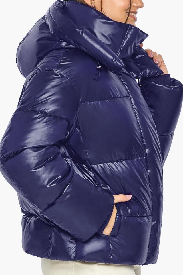 """Куртка с капюшоном женская синяя модель 44210 Braggart """"Angel's Fluff"""" фото 9"""
