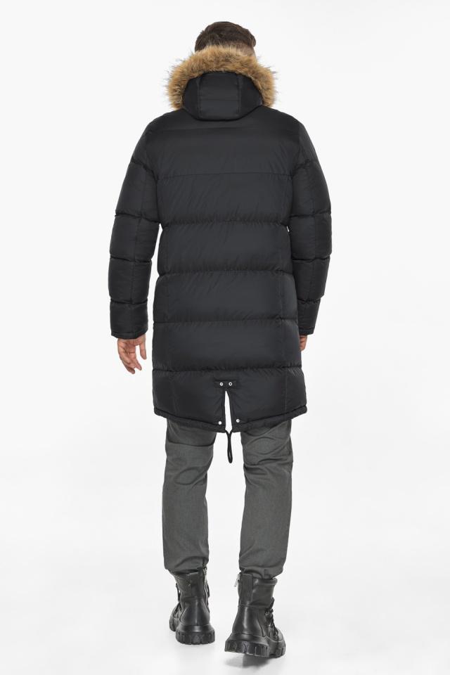 """Мужская куртка комфортной длины чёрная зимняя модель 49318 Braggart """"Dress Code"""" фото 8"""