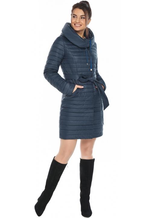"""Практичная куртка женская синяя модель 66870 Braggart """"Angel's Fluff"""" фото 1"""