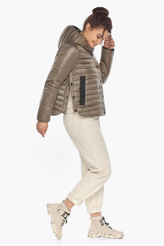 """Капучиновая женская куртка с карманами осенне-весенняя модель 64150 Braggart """"Angel's Fluff"""" фото 4"""