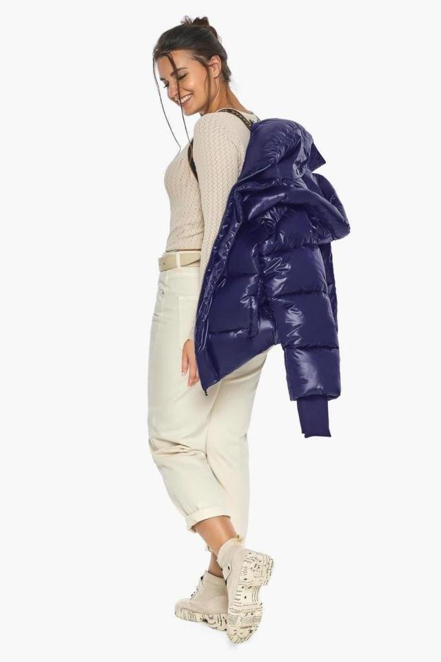 """Куртка с капюшоном женская синяя модель 44210 Braggart """"Angel's Fluff"""" фото 4"""