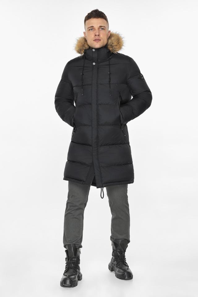 """Мужская куртка комфортной длины чёрная зимняя модель 49318 Braggart """"Dress Code"""" фото 5"""