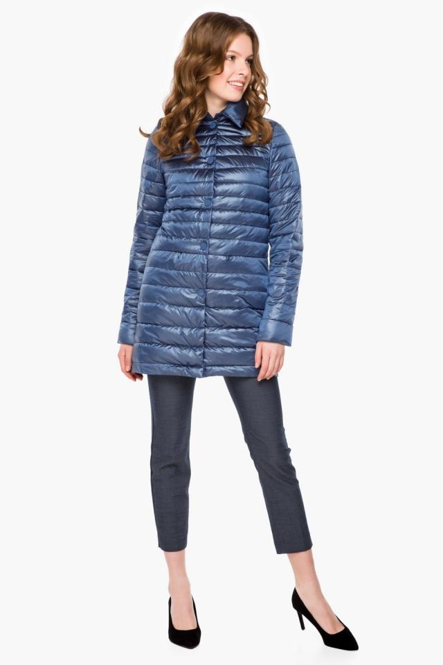 """Куртка с потайными карманами осенне-весенняя женская цвет ниагара модель 41323 Braggart """"Angel's Fluff"""" фото 4"""