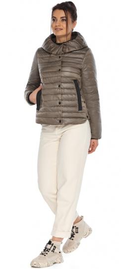 """Капучиновая женская куртка с карманами осенне-весенняя модель 64150 Braggart """"Angel's Fluff"""" фото 1"""