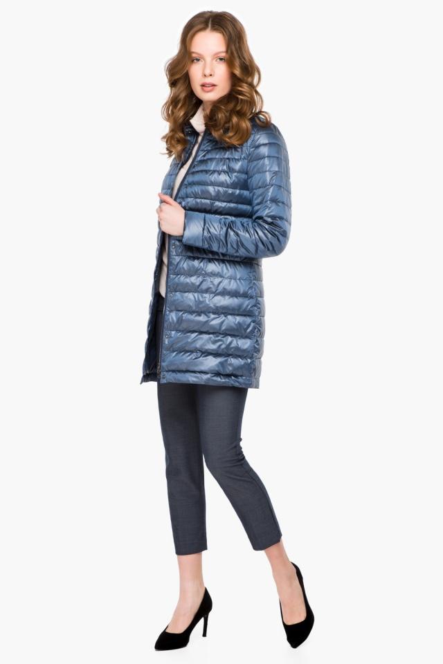 """Куртка с потайными карманами осенне-весенняя женская цвет ниагара модель 41323 Braggart """"Angel's Fluff"""" фото 2"""
