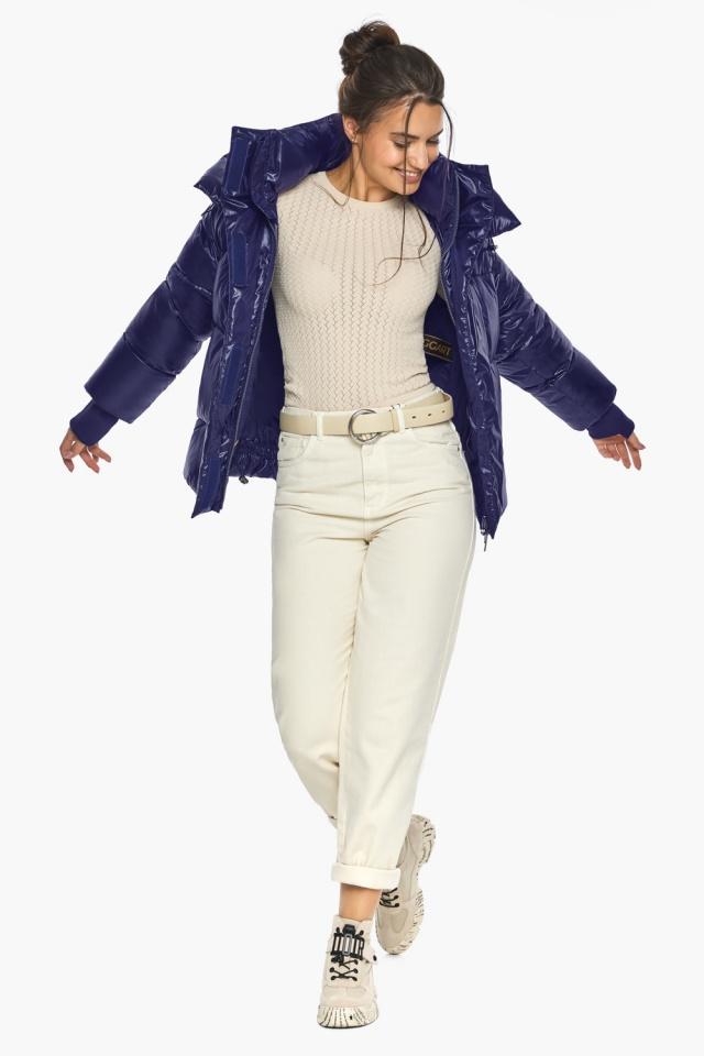 """Куртка с капюшоном женская синяя модель 44210 Braggart """"Angel's Fluff"""" фото 5"""