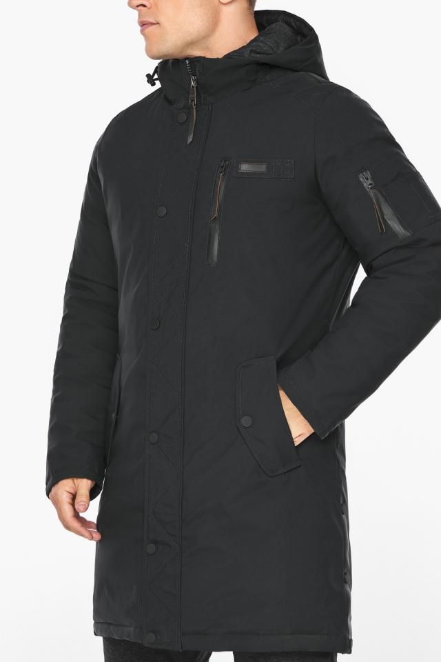 """Куртка – воздуховик зимний мужской черный модель 38012 Braggart """"Angel's Fluff Man"""" фото 8"""