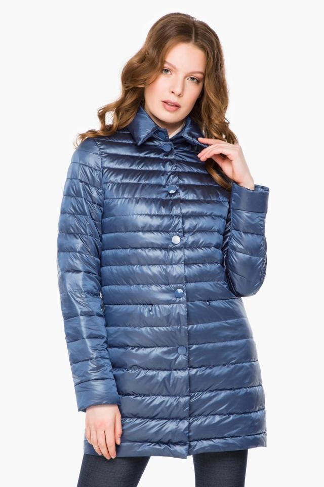 """Куртка с потайными карманами осенне-весенняя женская цвет ниагара модель 41323 Braggart """"Angel's Fluff"""" фото 3"""