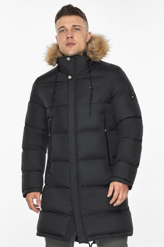"""Мужская куртка комфортной длины чёрная зимняя модель 49318 Braggart """"Dress Code"""" фото 3"""