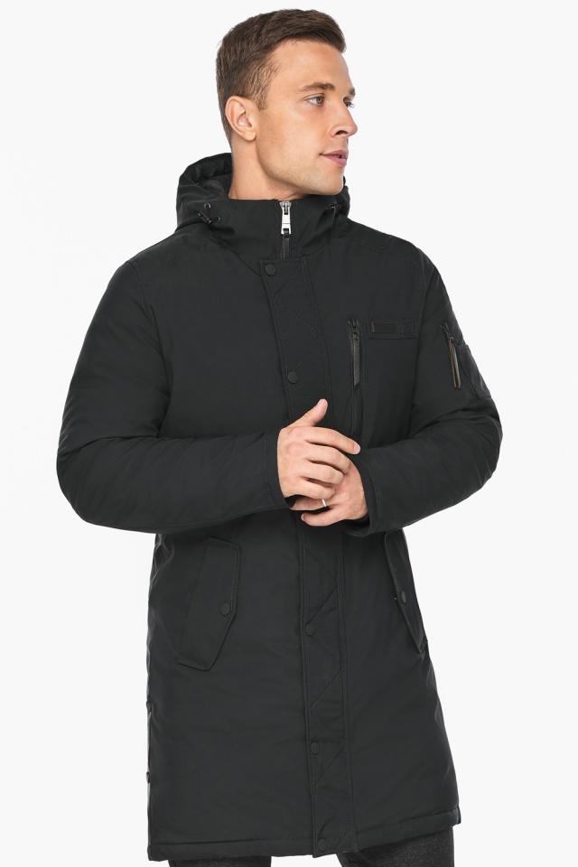 """Куртка – воздуховик зимний мужской черный модель 38012 Braggart """"Angel's Fluff Man"""" фото 3"""