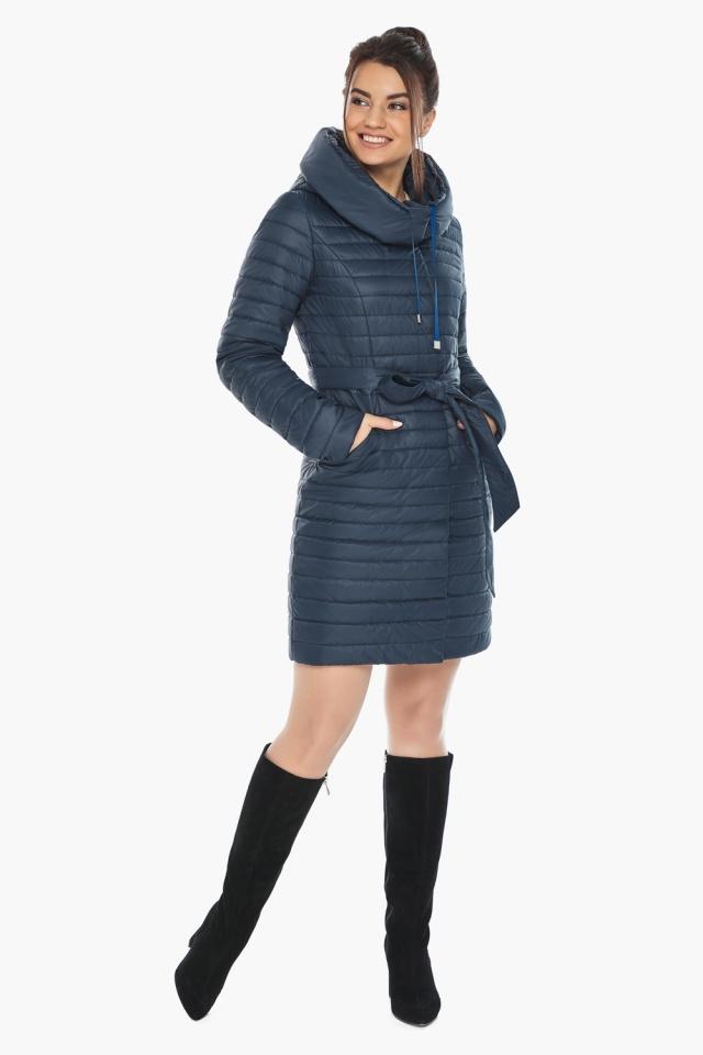 """Практичная куртка женская синяя модель 66870 Braggart """"Angel's Fluff"""" фото 5"""