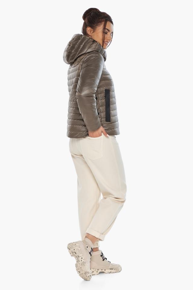 """Капучиновая женская куртка с карманами осенне-весенняя модель 64150 Braggart """"Angel's Fluff"""" фото 7"""