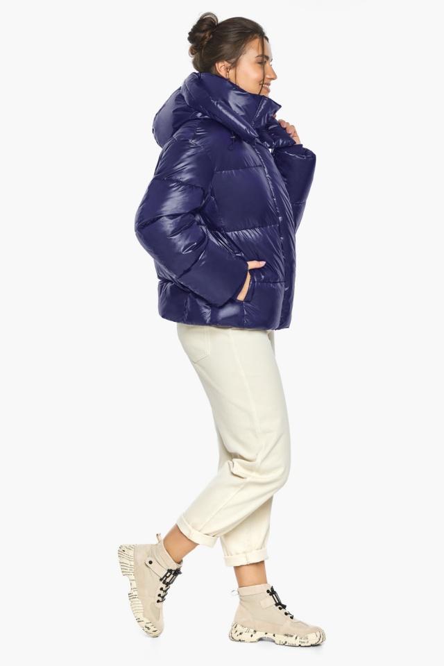 """Куртка с капюшоном женская синяя модель 44210 Braggart """"Angel's Fluff"""" фото 7"""