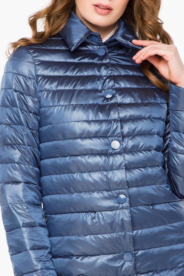 """Куртка с потайными карманами осенне-весенняя женская цвет ниагара модель 41323 Braggart """"Angel's Fluff"""" фото 6"""