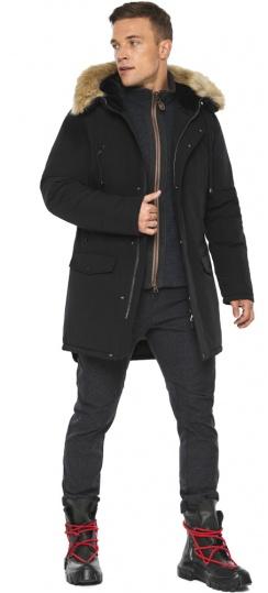 """Парка – воздуховик брендовый мужской зимний чёрный модель 45062 Braggart """"Angel's Fluff Man"""" фото 1"""