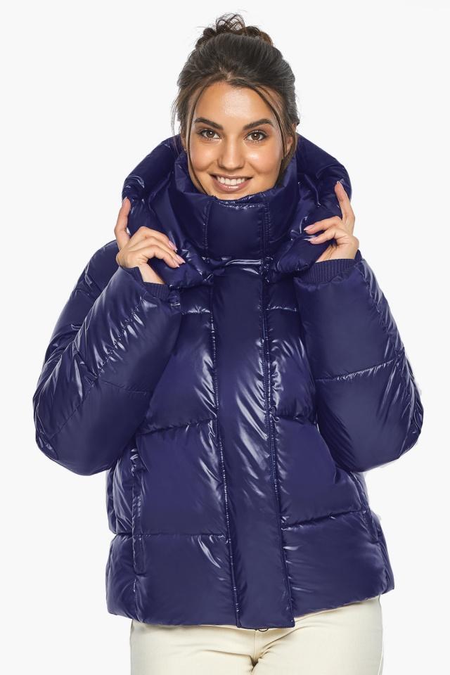 """Куртка с капюшоном женская синяя модель 44210 Braggart """"Angel's Fluff"""" фото 6"""