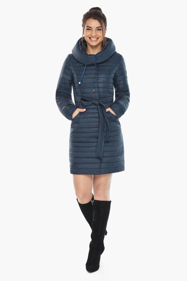 """Практичная куртка женская синяя модель 66870 Braggart """"Angel's Fluff"""" фото 6"""