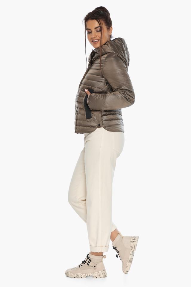 """Капучиновая женская куртка с карманами осенне-весенняя модель 64150 Braggart """"Angel's Fluff"""" фото 6"""