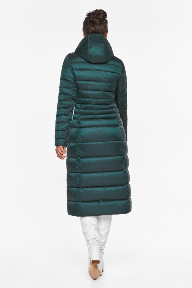 """Изумрудная куртка женская с трикотажными манжетами модель 43575 Braggart """"Angel's Fluff"""" фото 7"""